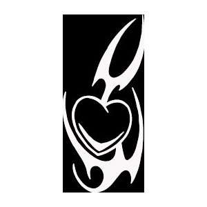 HRT (311) 6 white vinyl decal tribal design heart die cut