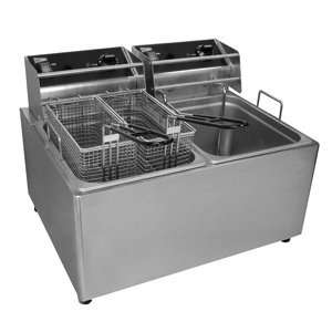 Cecilware EL2X15 Stainless Steel Electric Countertop Fryer