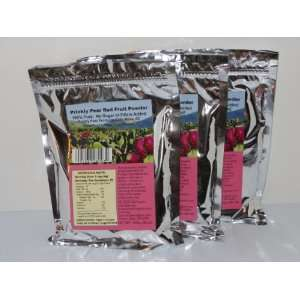 Prickly Pear RED Fruit Powder 3 Pack Resealable Mylar Bags