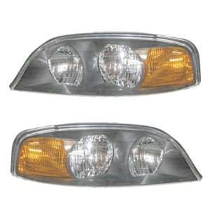 Lincoln LS Headlights Headlamps Head Lights Lamps Pair Set Automotive