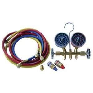manifold gauge set, vibration free gauges, 60 hoses