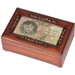 Special Person Inspirational Decorative Woodgrain Rose Music Box
