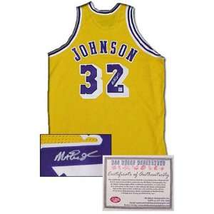 Magic Johnson Los Angeles Lakers Autographed Authentic Gold Jersey