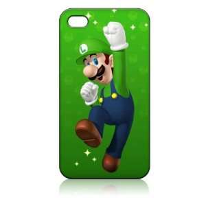 Luigi Super Mario Bros Hard Case Skin for Iphone 4 4s Iphone4 At&t