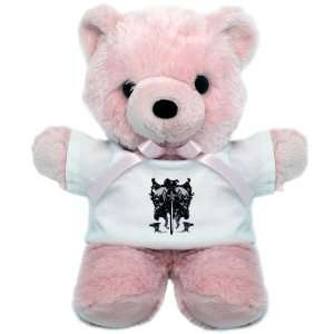 Teddy Bear Pink Dragon Sword and Skulls Medieval