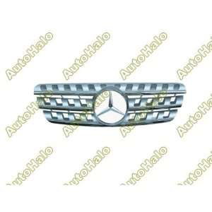 99 00 01 02 03 04 ) MERCEDES BENZ W163 ML GRILL   CHROME W/ BLACK   JY