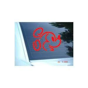 MICKEY MOUSE DISNEY FACE   5 RED Decal   Car, Truck, Notebook, Vinyl