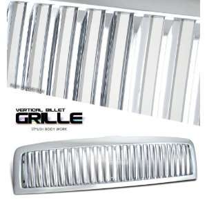 Ram Sport Grill   Chrome Painted 1 Piece Vertical Style Automotive