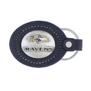 Baltimore Ravens Large Leather Key Chain Sports