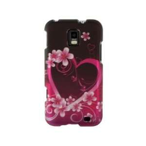 Phone Protector Cover Case Purple Love For Samsung Focus S Cell