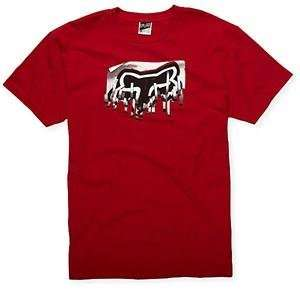 Fox Racing Shredder T Shirt   Medium/Red Automotive