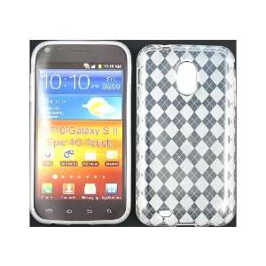 Clear/Transparent Argyle TPU Ice Candy Skin Soft Gel Case