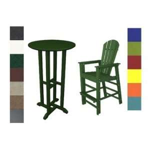 Wood® 3 PC South Beach 24 Inch Round Bar Table Set