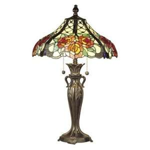 Tiffany TT100910 Hazlett Table Lamp, Fieldstone and Art Glass Shade