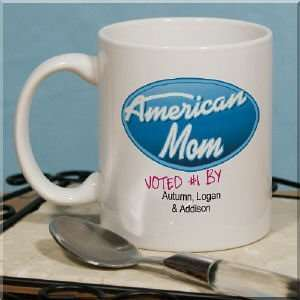 American Mom Personalized Coffee Mug