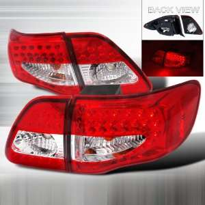 2009 2011 Toyota Corolla Led Tail Lights Red Automotive