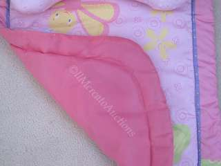 Bright Starts TUMMY TIME Play Mat Baby Toy Pillow Pink 28 x 21 GUC