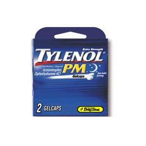 Tylenol PM Extra Strength Pain Reliever/Sleep Aid Gelcaps, 2/Pack, 12