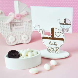 Baby Carriage Shower Favor Boxes Place Card Holders