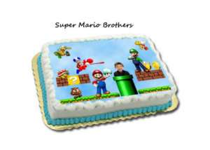 SUPER MARIO BROTHERS BIRTHDAY CAKE DESIGNS INVITATIONS