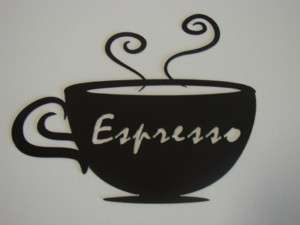 Metal Art Coffee Cup Espresso Wall Decor