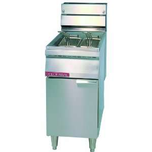 Floor Model Gas Deep Fryer   14 Gauge (40 lbs) FMP 40