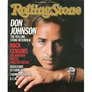 Johnson, 1985 Rolling Stone Cover Poster by Herb Ritts (9.00 x 11.00