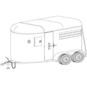 Trailer Blueprints   12Ft. Two Horse Trailer