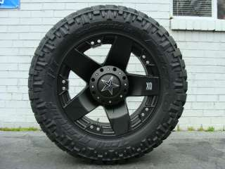 ROCKSTAR Black 305/55R20 Nitto Trail MT 33 mud tires Dodge Chevy Ford