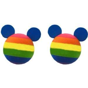 Rainbow Mickey Mouse Silhouette Car Truck SUV Antenna