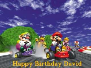 Mario Kart Edible Cake Image Topper Personalized