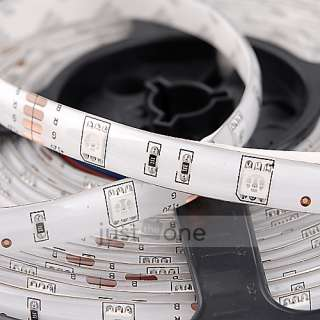 5050 SMD Waterproof RGB LED Light Strip + Remote + Power Supply